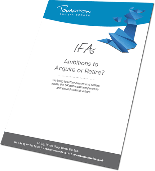 Brochure of retiring IFA for sale